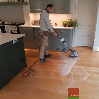 Hardwood Floor Professional Deep Cleaning - Scrubbing #CraftedForLife