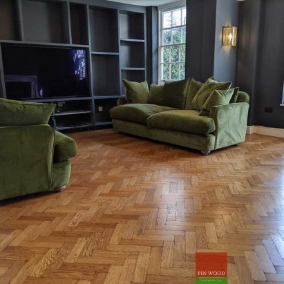 Herringbone parquet flooring by Fin Wood Ltd. London #CraftedForLife