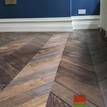 Chevron flooring London by Fin Wood Ltd #CraftedForLife