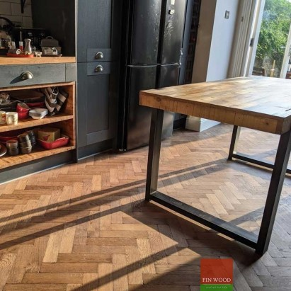 Herringbone parquet flooring by Fin Wood Ltd. London #CraftedForLife #CraftedForLife