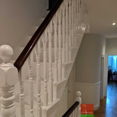 Victorian staircase restoration by Fin Wood Ltd #CraftedForLife #CraftedForLife