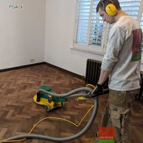 Parquet Sanding and Oiling #CraftedForLife