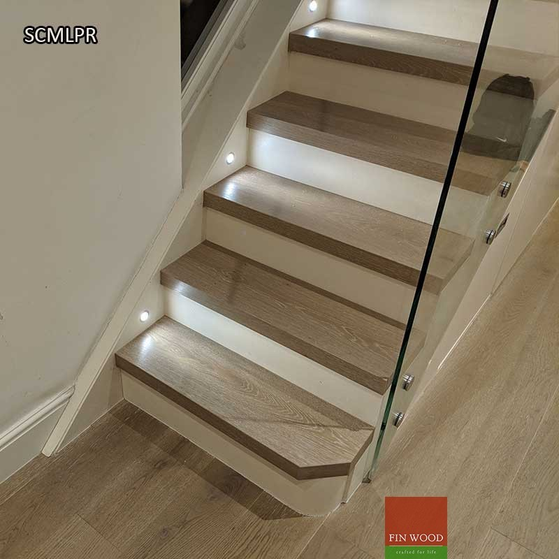 Wood Stairs Painted Risers: Modern Look With Painted Risers