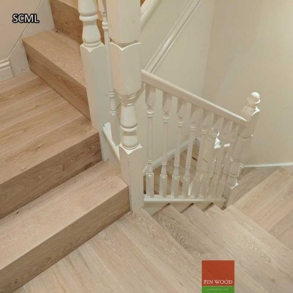 Stair Cladding - Modern look in London by Fin Wood