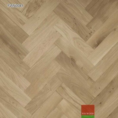 Oak Parquet Natural Unsealed 400 x 100 x 19 mm