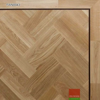 Oak Parquet Premier Unsealed 400 x 100 x 19mm #CraftedForLife