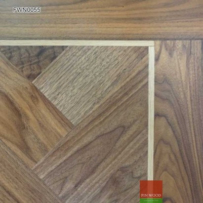Walnut Parquet Premier Unsealed 400 x 100 x19 mm