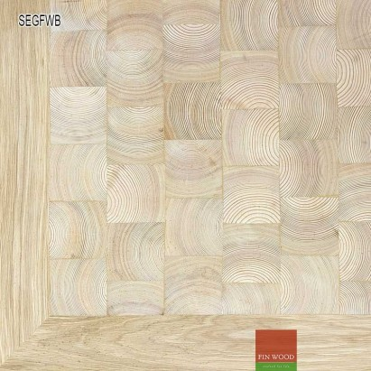 End Grain - Square end grain flooring fitting premier with border #CraftedForLife