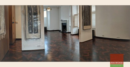 Our Restoration Work Improves a Rare Parquet Wooden Floor
