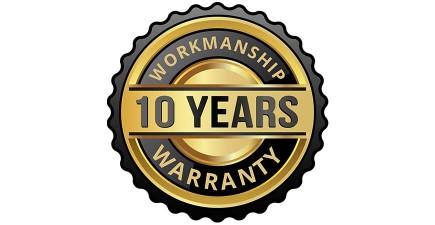 10 Year Workmanship Warranty