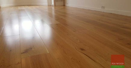 Wide Engineered Oak Boards fitting