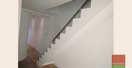 Modern Stair Cladding in W6 Shepherds #CraftedForLife