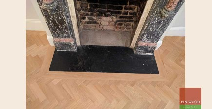 Oak Herringbone Parquet Custom Finished in SW17 Tooting #CraftedForLife