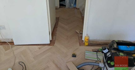 1970's House Updated with Improved Subfloor & New Parquet Floor  #CraftedForLife