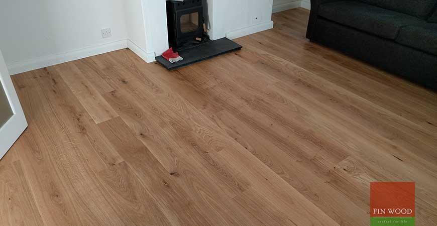 Natural Look Engineered Oak Boards fitting #CraftedForLife