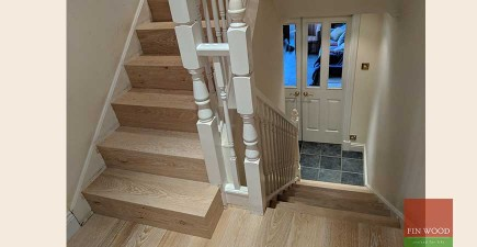 Stair cladding & Wood flooring makes a lasting impression in Wimbledon