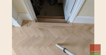 Bespoke Brushed Effect Parquet Wood Flooring Fitted in Shepherd's Bush, W14