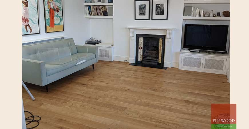 Stunning New Oak Wooden Floor and Sound Proofing in Victorian Apartment, NW5