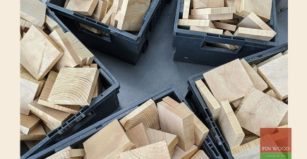 Scandi end grain cladding on stadium style seating  creates a smart rubik's cube design Greenwich SE10 #CraftedForLife