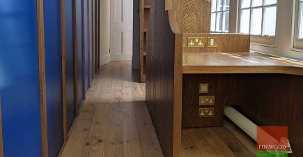 Reclaimed Victorian pine boards restored  for a smart, natural, sustainable finish, W1G  #CraftedForLife