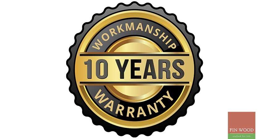 10 Year Workmanship Warranty #CraftedForLife