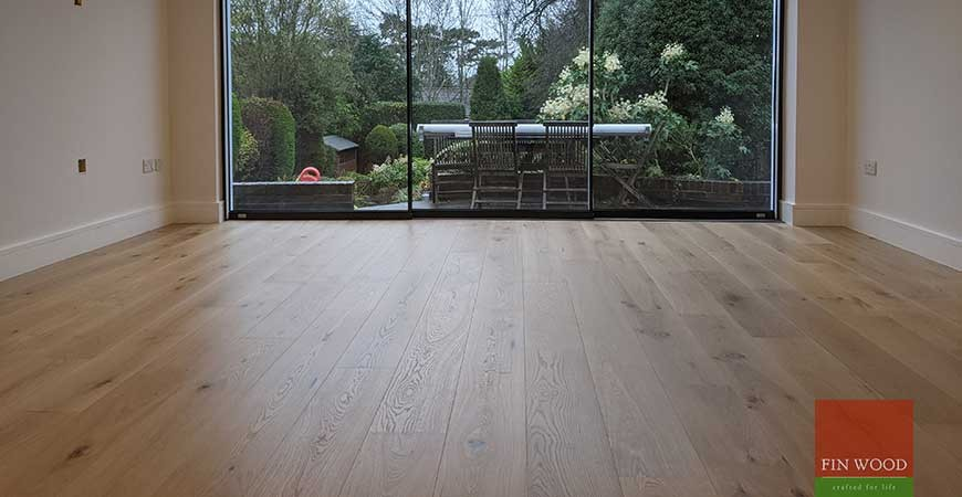Outstanding feedback from customers in Surrey delighted with wide oak floor boards, KT4 #CraftedForLife