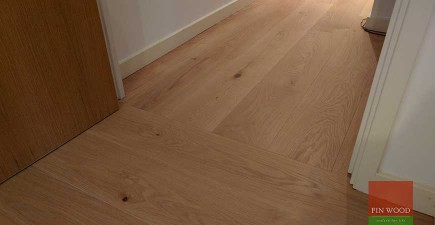A very chic wooden floor with a change of direction #CraftedForLife