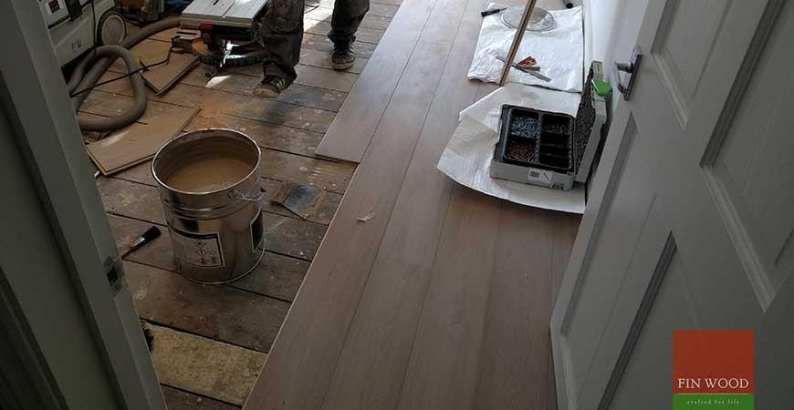 Grey Engineered Oak Flooring, Finsbury Park, London