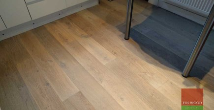 Grey Engineered Oak Flooring, Finsbury Park, London #CraftedForLife