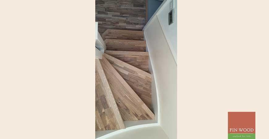 Wooden floors on stairs, Buckhurst Hill, Essex #CraftedForLife