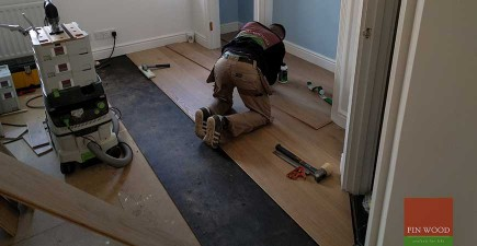 Coastal Grey Oak Engineered Boards flooring in Clapham, London