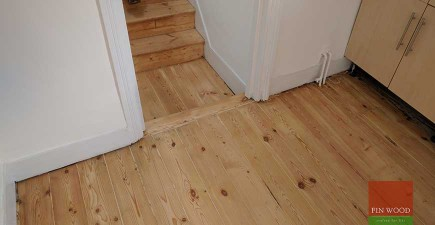 Original Pine Boards Restoration in Homerton, London