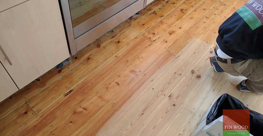 Original Pine Boards Restoration in Homerton, London #CraftedForLife