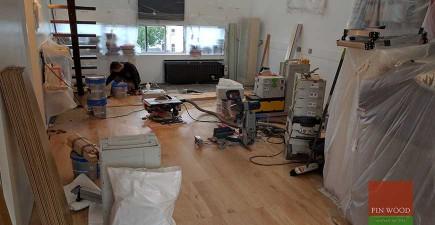 Bespoke Oak Engineered Boards Installation in NW1 Holloway, London