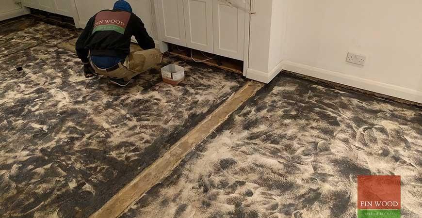 Grey-White Engineered Oak boards installation in TW9 Richmond