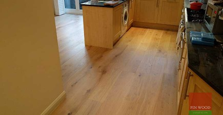 Grey-White Engineered Oak boards installation in TW9 Richmond