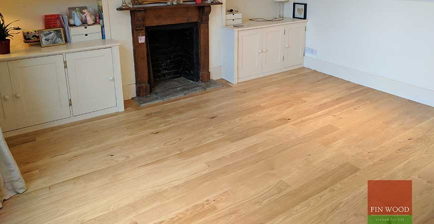 Narrow Engineered Oak boards installation in SW6 Fulham #CraftedForLife