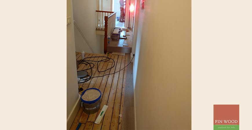 Grey oak engineered wood floor in N10 Muswell Hill - cool and practical