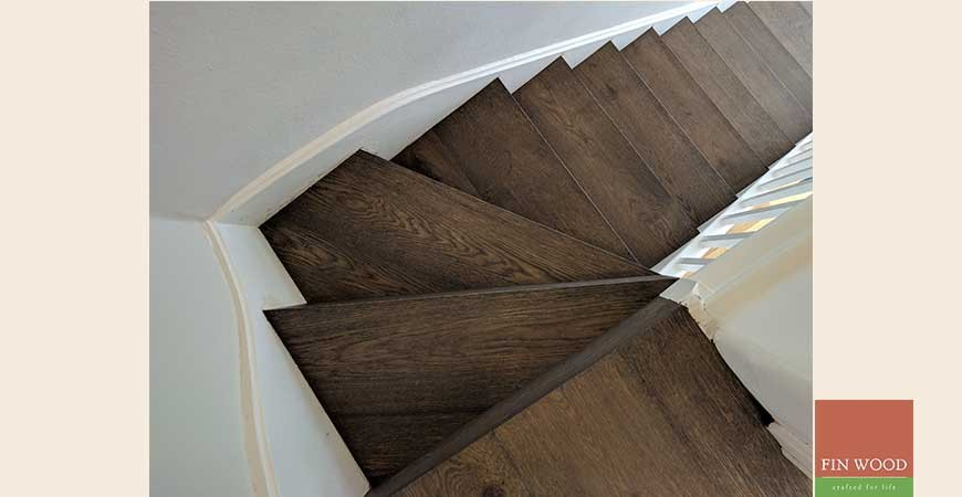 Modern Minimalist Stairs Cladding in SW19 Wimbledon #CraftedForLife