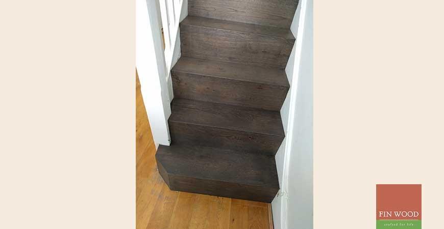 Modern Minimalist Stairs Cladding in SW19 Wimbledon