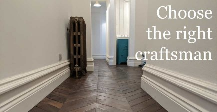 Steps for obtaining a long lasting beautiful wooden floor #CraftedForLife