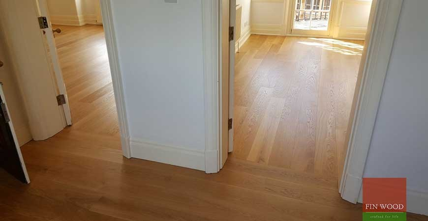 Natural Oak Boards with change of direction in SW1P Pimlico