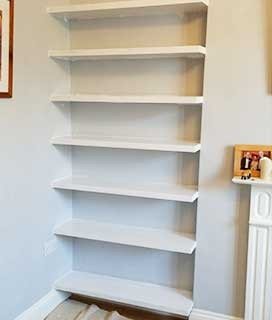 Custom shelves made from wood